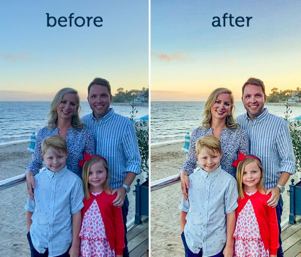 family photo editing services before after