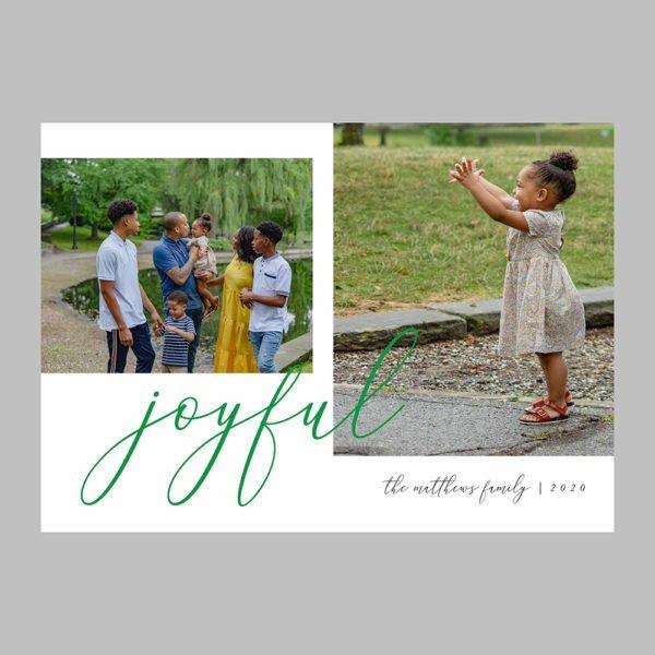 joyful christmas photo cards minimalism