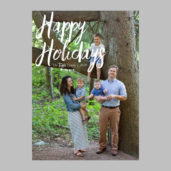 minimalist holiday card design