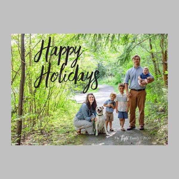 happy holidays photo card design