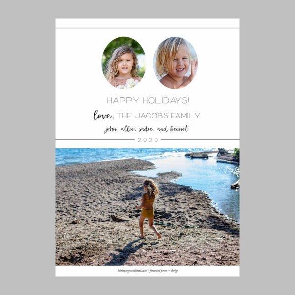 minimalist holiday cards
