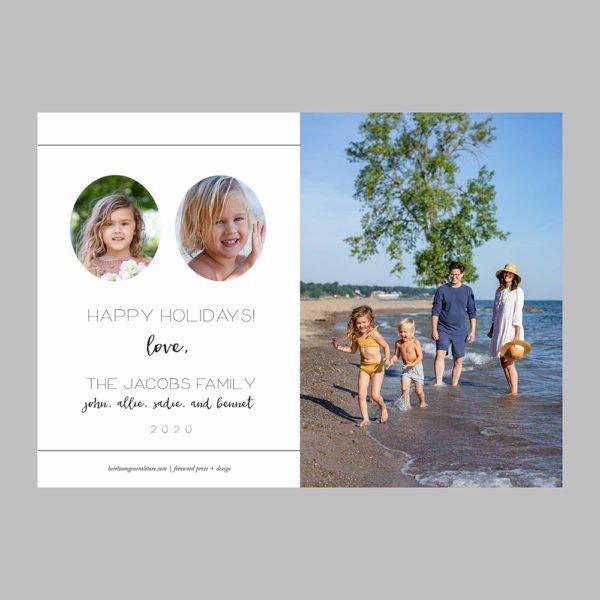 bright holiday photo cards